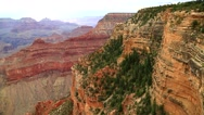 Panoramic shows the Rock Layers at the Grand Canyon Stock Footage