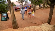 Tourists visiting the Grand Canyon Stock Footage