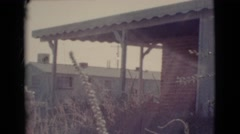 1964: summer house, vintage clip Stock Footage