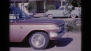 1964: cars are seen passing by a building COTTONWOOD, ARIZONA Stock Footage