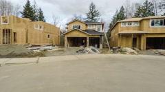American neighborhood new construction housing development Stock Footage