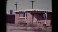 1964: a residential area is seen COTTONWOOD, ARIZONA Stock Footage