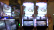 Video of concept blur view in arcade game centre with games and lights Stock Footage