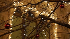 Christmas street lights decoration Stock Footage