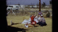 1968: a picnic in a garden area is seen CLARKSDALE, ARIZONA Stock Footage