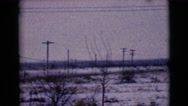 1968: first snow of the year CLARKSDALE, ARIZONA Stock Footage