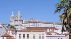 "Lisbon. Landscape from viewpoint ""Miradouro das Portas do Sol"" Stock Footage"