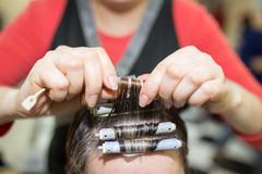 Perm in the beauty salon Stock Photos