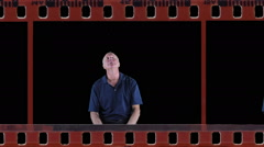 Bored man in film Stock Footage