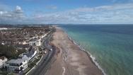 The beach in Worthing Stock Footage
