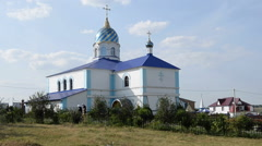 He monastery buildings in the village Dedovo Stock Footage