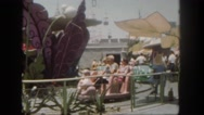 1962: family is enjoying a day at the park during a vacation together.  Stock Footage