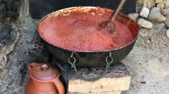 Cooking chutney fire Stock Footage