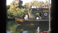 1962: a boat is seen approaching a pathway SAN PEDRO, CALIFORNIA Stock Footage