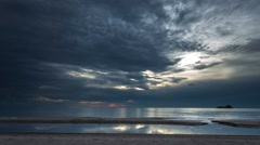 Tropical beach at morning time lapse Stock Footage