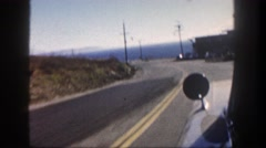 1962: driving to the oceanside filming outside of car window DISNEYLAND Stock Footage