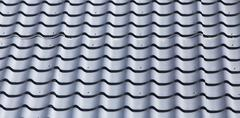 Metal roofing roof as background Stock Photos