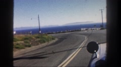 1962: mounted camera video of car driving DISNEYLAND, CALIFORNIA Stock Footage