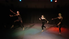 4K Young students in dance rehearsal for school theatre production Stock Footage