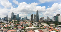 Time lapse over Jakarta business district Stock Footage