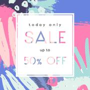 Hand Drawn Sale Poster Design Stock Illustration