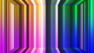 Broadcast Twinkling Vertical Hi-Tech Bars Room, Multi Color, Abstract, Loop, 4K Stock Footage