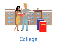 College Education Concept Stock Illustration