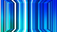 Broadcast Twinkling Vertical Hi-Tech Bars Room, Blue, Abstract, Loopable, 4K Stock Footage