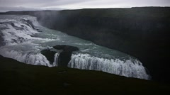 View of Gullfoss Falls  Stock Footage