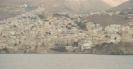 Movement along Greek island  with authentic village Stock Footage