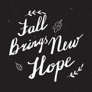 Autumn hand lettering and calligraphy design Piirros