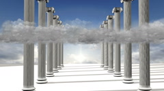 Many ancient greek  pillars Stock Footage