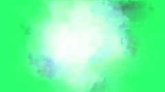 Clouds effect on green screen in background Stock Footage