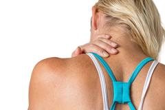 Cervical spin pain concept isolated Stock Photos