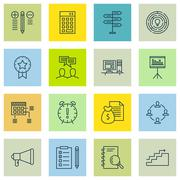 Set Of Project Management Icons On Best Solution, Award, Promotion And More.  Stock Illustration