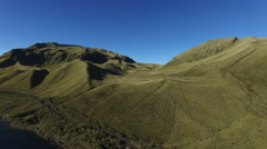 Ecuador Hills and Mountains Pan from Land to Water Stock Footage