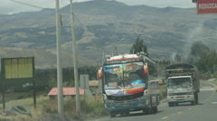 Ecuador mass transit and busses Stock Footage