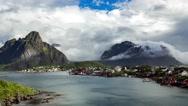 Timelapse Lofoten archipelago islands Stock Footage