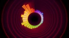 Audio waveform circle Stock Footage
