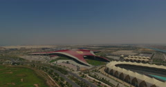 Abu Dhabi Yas Island Ferrari World stock footage Stock Footage