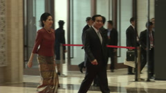 Prayut Chan-o-cha Arrival at Asean Stock Footage