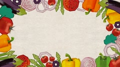 Animation frame of vegetable .background for recipe , Luma Matte Stock Footage