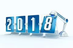 Happy new year 2018 Stock Illustration
