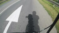 Shadow of a man riding a bike Stock Footage