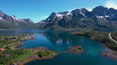 Aerial footage Beautiful Nature Norway. Stock Footage