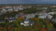 Vartiovuori observatory Turku, 4K aerial Stock Footage
