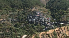 Classic Portuguese Historic Village Piodao Piodão Stock Footage