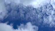 Beautiful clouds in motion Stock Footage