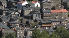 Stone Houses of Classic Portuguese Historic Village Piodao Piodão Stock Footage