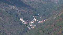 Shrine of Our Lady of Peneda in Peneda Geres mountain portugal Stock Footage